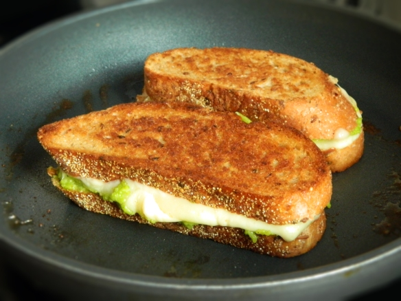 Fontina Grilled Cheese with Fava Bean Puree