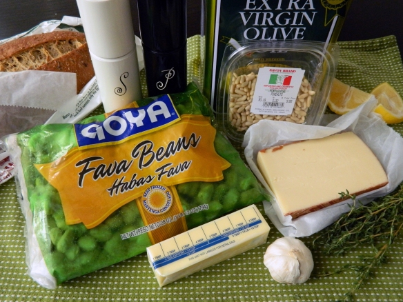 Fontina Grilled Cheese with Fava Bean Puree Ingredients