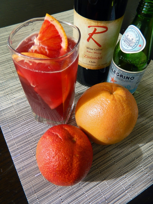 Red Wine Spritzer with Blood Orange and Grapefruit